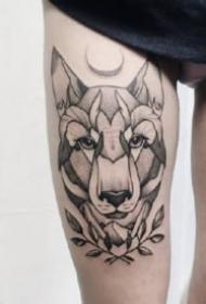 18款黑灰色的点刺纹身图片