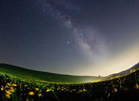 唯美養眼星空夜景圖片桌面壁紙