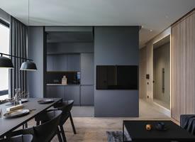 高級黑公寓設計,極簡至奢的浪漫