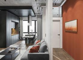现代简约设计,橙色+ 黑色探索极简生活