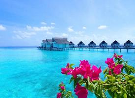馬爾代夫唯美大海風景圖片桌面壁紙