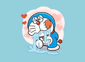 """""""藍胖子""""哆啦A夢可愛高清手機壁紙"""