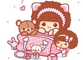 一组可爱粉粉的摩丝摩丝宝宝图片欣赏