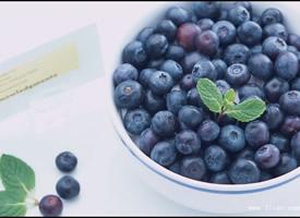 一组小小圆圆的蓝莓图片欣赏
