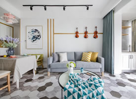 斯堪的納維亞風格公寓住宅,自然清新,親和隨性