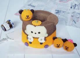 这个卡通造型蛋糕也太萌了吧,疯狂心动