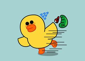 一组简约卡通小黄鸭高清图片欣赏