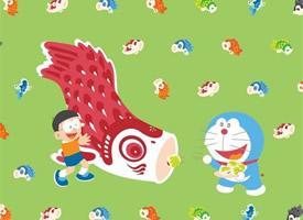 一组超可爱的哆啦A梦和大雄的图片
