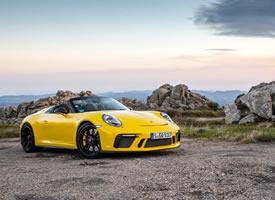 一组各种颜色帅气的Porsche 911 Speedster