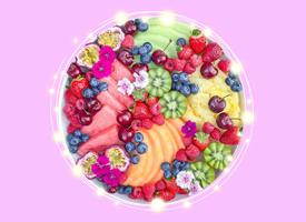 一组漂亮的水果拼盘高清图片欣赏