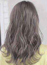 适合夏季的发色染发参考~浅色清透的青木亚麻灰