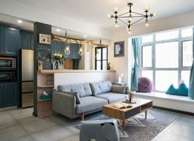 68㎡简约混搭风二居室,精致舒适的生活空间