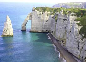 一组危险的海岸悬崖高清图片欣赏