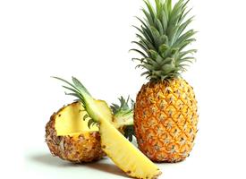一组清新的菠萝特写图片欣赏