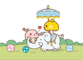 蘑菇点点幸福生活卡通图片壁纸