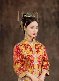 一组温婉的中式新娘妆发片欣赏