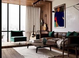 50平米公寓设计,麻雀虽小五脏俱全