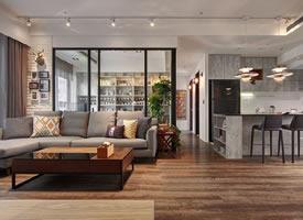 现代简约三居室套内面积:86㎡,质感蔓延、自然写意