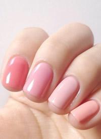 糖果指甲色參考 純色系真的很美