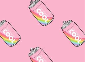小清新粉色插画高清手机壁纸