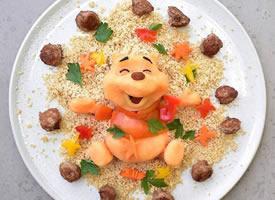 一组超级可爱的创意食物拼盘图片