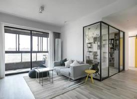 93平现代北欧三居室装修效果图欣赏