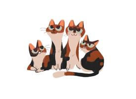 可爱卡通猫咪插画高清手机壁纸
