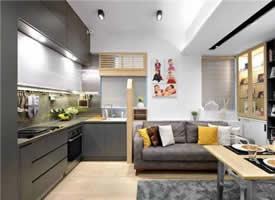 实用面积59㎡现代简约三居室,还有步入式衣帽间