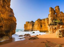 一组美丽的金黄的海滩图片欣赏