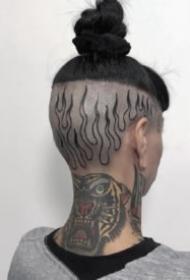 紋身頭部 超個性的腦袋上紋身作品圖片