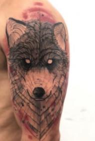 水墨设计纹身 很好看的9张水墨风格设计感纹身图案