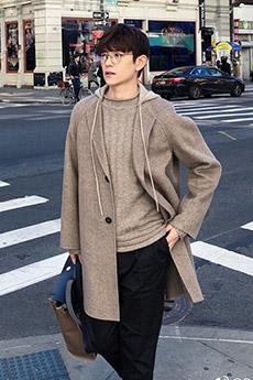 明星帅哥hit5成员段黄巍冬季迷人时尚外拍写真图片