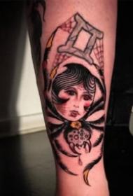 黑灰蜘蛛纹身 9款蜘蛛主题的纹身作品欣赏