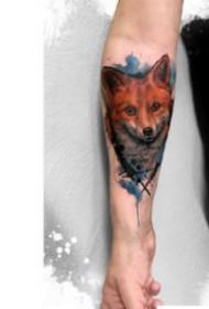 纹身水彩动物 一组水彩风格的动物纹身图片欣赏