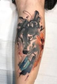 包臂水墨紋身 暗水彩風格的一組包臂紋身圖片
