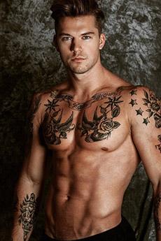 欧美纹身艺术帅哥图片大全