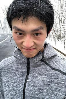 中国男模金大川可爱自拍照