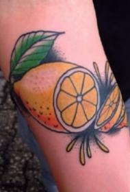 柠檬纹身 9张水果柠檬的主题纹身图片