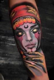 女郎纹身图 超漂亮的9张newschool彩色女郎纹身欣赏
