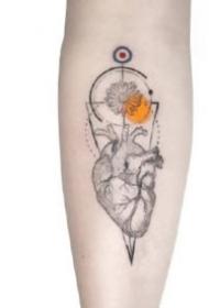 小臂水彩纹身 好看的水彩设计小臂纹身图片