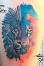 纹身彩绘图片  几款技巧与创意并行的彩绘纹身图案