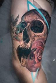 9組很好看的創意骷髏紋身圖片