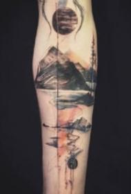 黑灰水墨纹身 飘逸的一组9张中国风水墨纹身图片