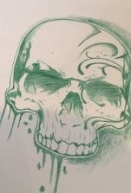 紋身手稿素材 黑灰色調鉛筆素描紋身手稿素材
