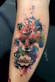 水彩纹身图案 个性且创意十足的水彩色纹身图案