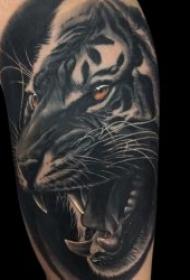 纹身老虎  9款威风勇猛的老虎纹身图案