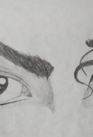 眼睛纹身图案 10款黑灰色调神秘的眼睛主题纹身图案