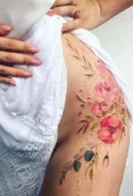 性感女生紋身 8張漂亮的女孩子專屬性感紋身圖案