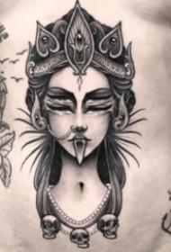 黑色點刺紋身 18組暗黑色的創意點刺紋身圖案