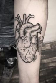 心脏纹身图案-另类且有个性的10张心脏纹身图案